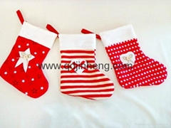 16x20cm Christmas boots red