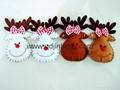 felt reindeer head  hanger