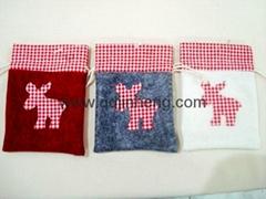 fleece bag with Christmas embroidery