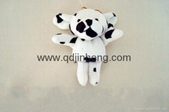 9cm plush cow with hanger