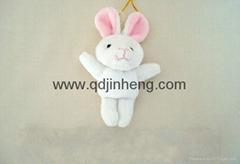 9cm rabbit plush orgament