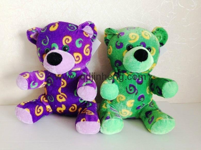 20CM紫色和绿色填充熊 1