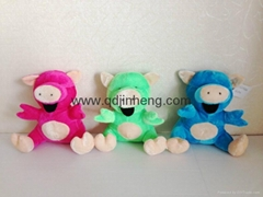 stuffed toy pig in three color 15cm