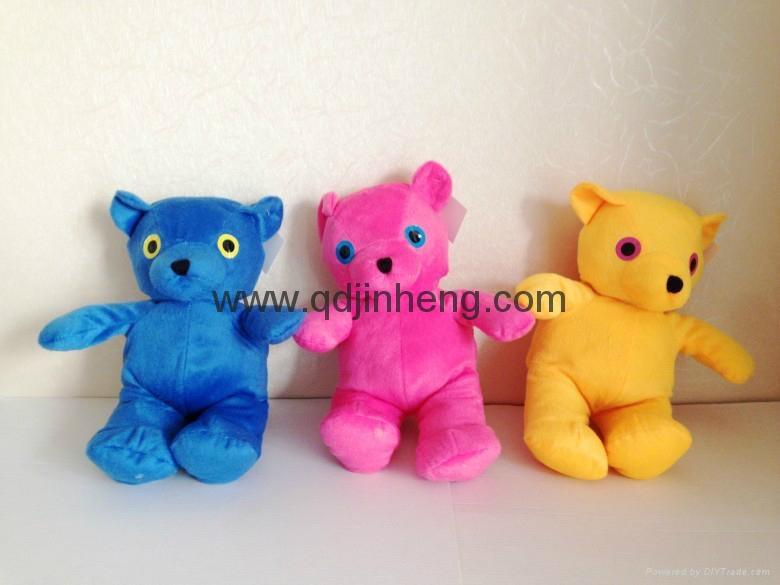 25cm height sitting bear stuffed