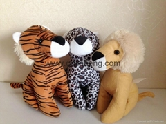 stuffed lione/tiger/leopard 25cm