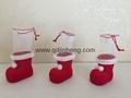 5CM彩色小植絨聖誕靴子裝飾品