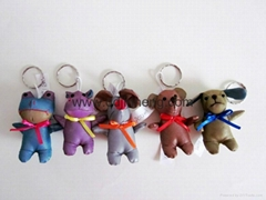 6CM reflective material animal with keyring