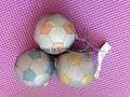 6CM彩色反光面料填充球配鑰匙