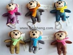 7CM彩色反光面料围巾猴子