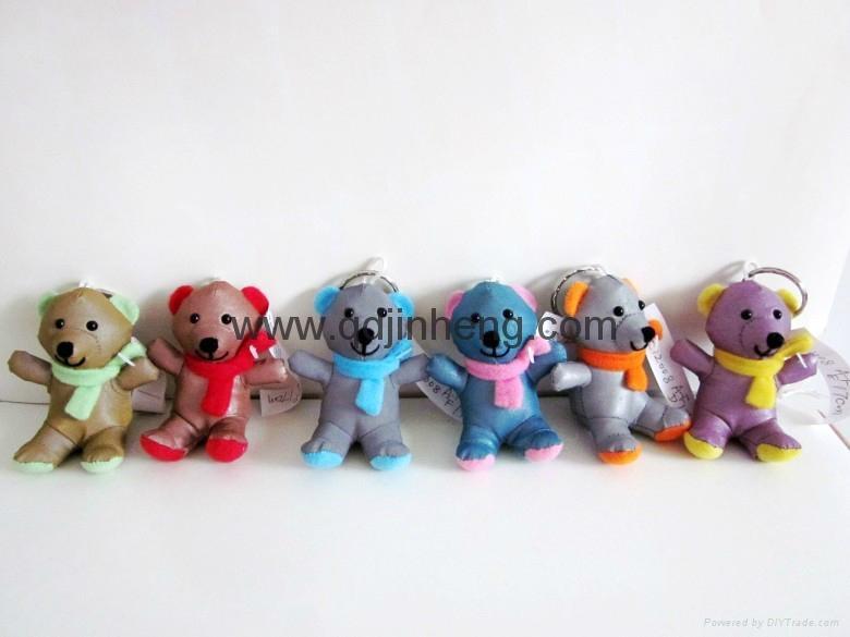 7CM彩色反光面料圍巾小熊 1