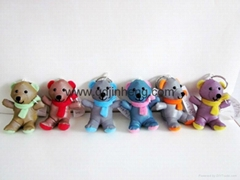 7CM colorful reflective material bear stuffed