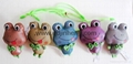 9cm color reflective material frog