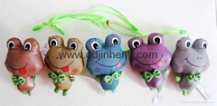 9cm color reflective material frog printing