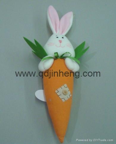 填充胡萝卜配兔子头 1