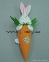 stuffed carrot with rabbit head