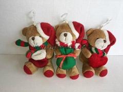 圣诞熊抱礼物