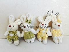 对兔子吊饰
