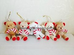 聖誕圍巾熊