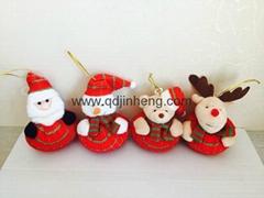 大肚子红色圣诞玩具
