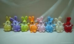 圓肚子兔子春天顏色