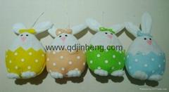 春天胖兔子坐姿