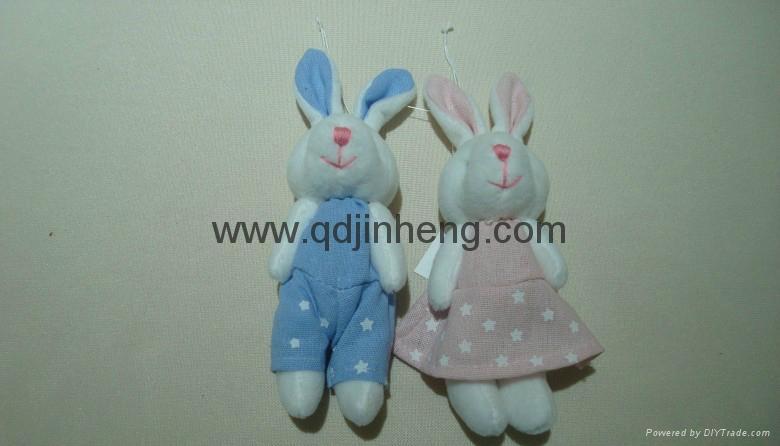 蓝色和粉色对兔子 1