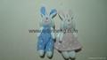 蓝色和粉色对兔子