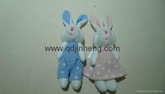 藍色和粉色對兔子