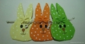 hanging bunny head holly in different color
