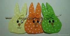 吊空兔子头不同颜色