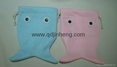 fish shape small bag drawsring top