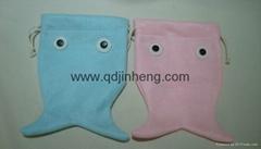 fish shape small bag drawsring top