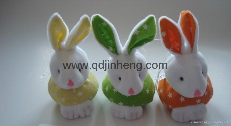 sitting bunny stuffed 1