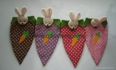胡萝卜形状麻布袋子