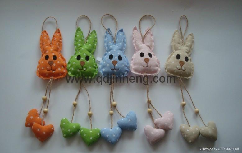 长腿麻布兔子 1