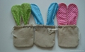 flax material sack with rabbit ear