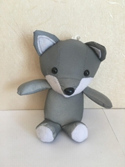 Fox toy with reflective fabric