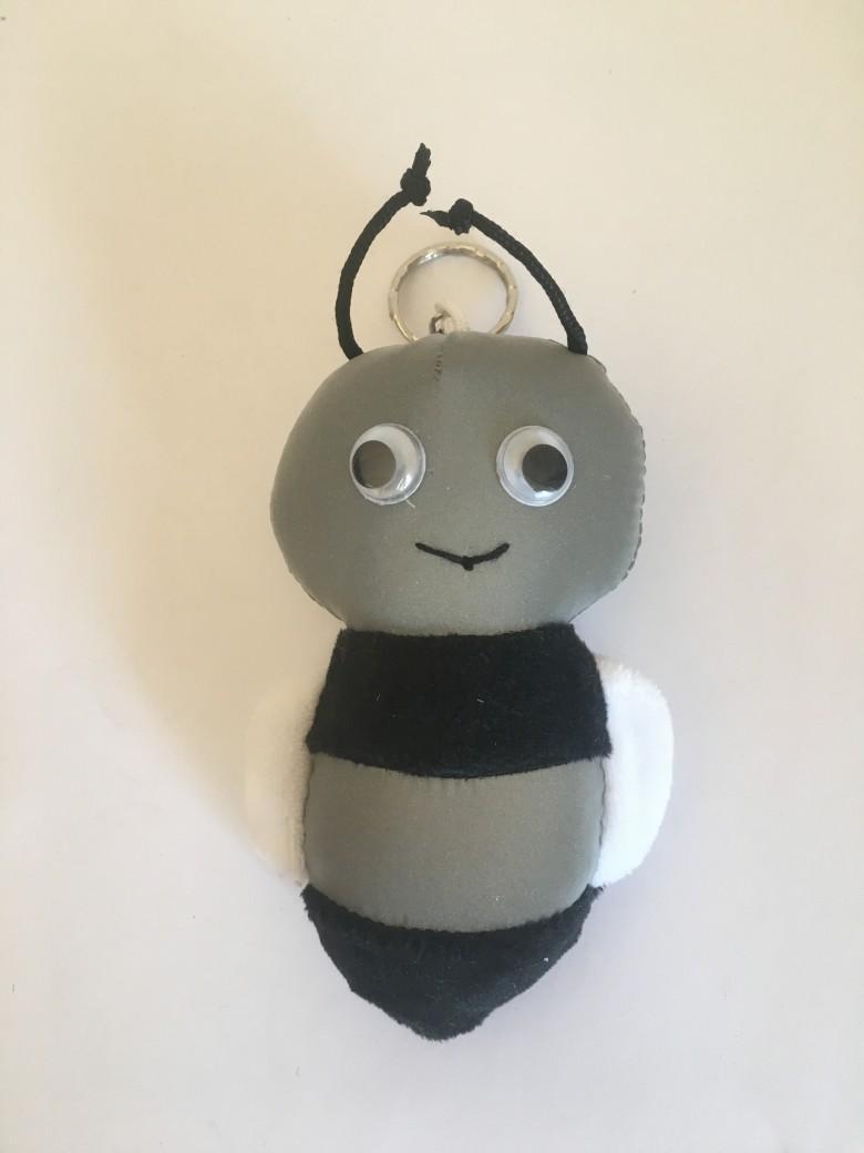 反光面料蜜蜂钥匙链 1