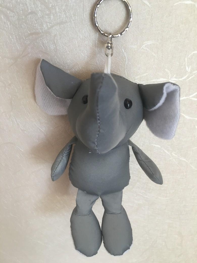 反光面料大象手机钥匙链 1