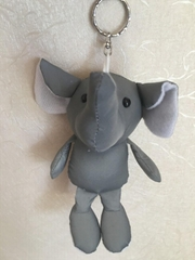 Reverse light fabric elephant cell phone chain