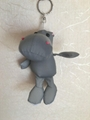 Reflective fabric of hippopotamus key chain