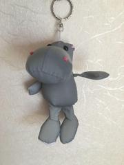 Reflective fabric of hippopotamus key chain