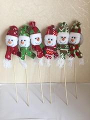 插枝聖誕雪人