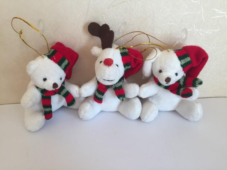 圣诞坐熊和鹿 1