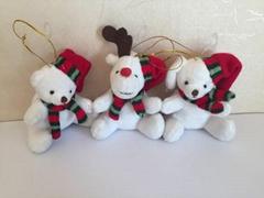 圣诞坐熊和鹿