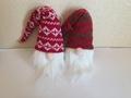 圣诞老人头配针织帽子