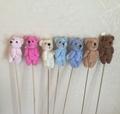 7CM mini bear plush with stick