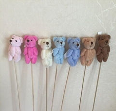 7CM mini bear plush with stick