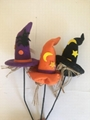 10CM FELT HAT WITH STICK FOR HALOWEEN