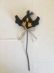 6CM黑色无纺布蝙蝠配插枝
